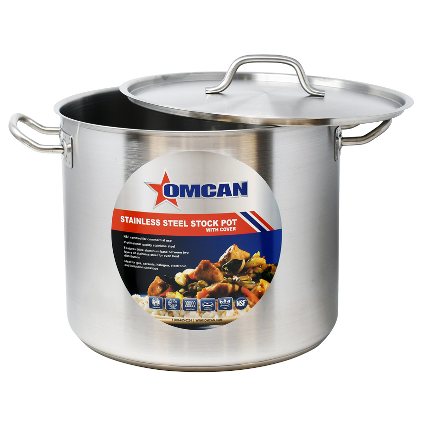 thick NSF pans Professional grade Aluminum Stock Pots Heavy duty commercial
