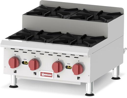 4 burner step up gas hot plate