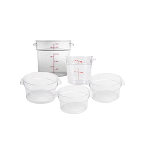 CLEAR ROUND FOOD STORAGE CONTAINERS