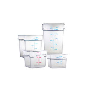 CLEAR SQUARE FOOD STORAGE CONTAINERS