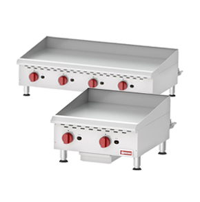 COUNTERTOP GRIDDLES WITH MANUAL CONTROL