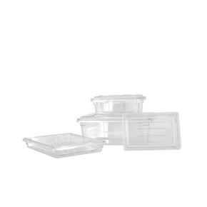 POLYCARBONATE RECTANGLE FOOD STORAGE CONTAINERS AND COVERS