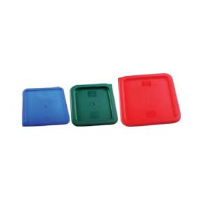 POLYETHYLENE COVERS FOR SQUARE FOOD STORAGE CONTAINERS