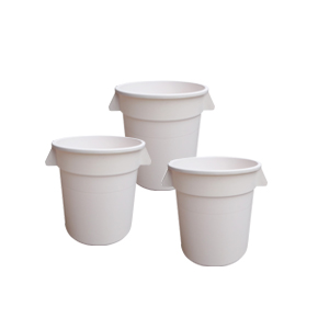 POLYETHYLENE WHITE FOOD STORAGE CONTAINERS