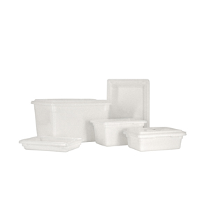 POLYPROPYLENE RECTANGLE FOOD STORAGE CONTAINERS AND COVERS