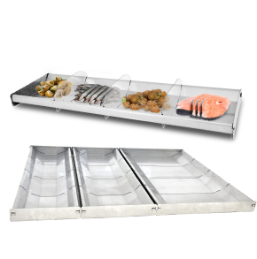 FOOD TRAYS WITH DIVIDERS