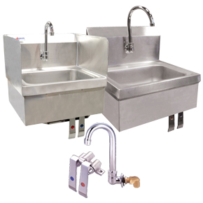 SINKS WITH KNEE VALVES