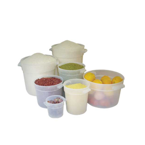 WHITE / TRANSLUCENT ROUND FOOD STORAGE CONTAINERS