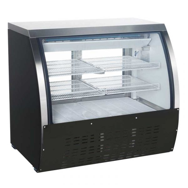 47-inch Refrigerated Floor Showcase with Black Coated Steel Exterior