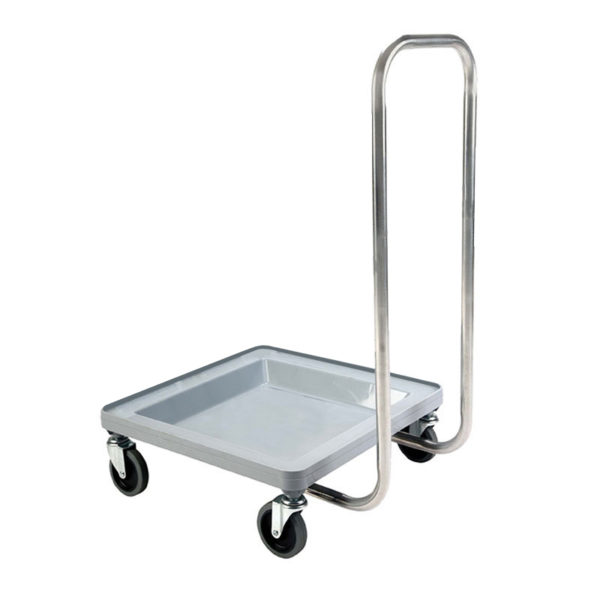 Gray Polypropylene Dish Rack Dolly with Handle