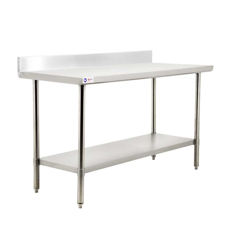 30″ x 84″ All Stainless Steel Work Table with Backsplash ...