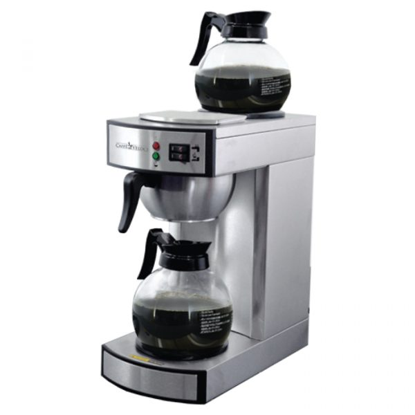 44313_Stainless Steel Coffee Maker with 2 Glass Decanter - 2.2 L tank capacity