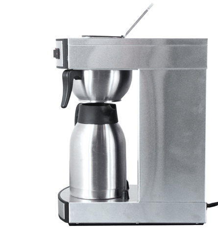 44315 -Stainless Steel Coffee Maker with 2L Thermos Pot - Side View