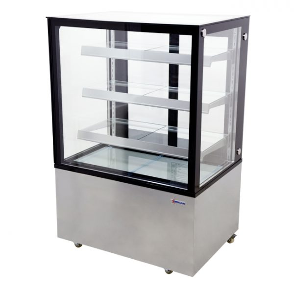 44382_36-inch Square Glass Floor Refrigerated Display Case