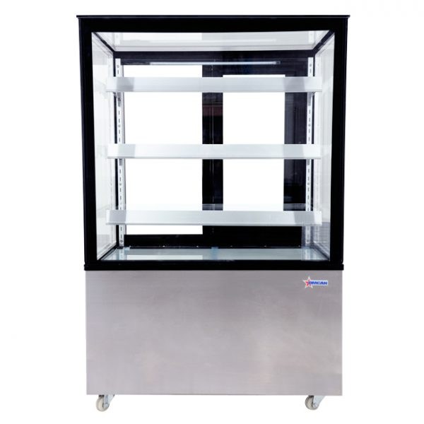 44382_36-inch Square Glass Floor Refrigerated Display Case - Front