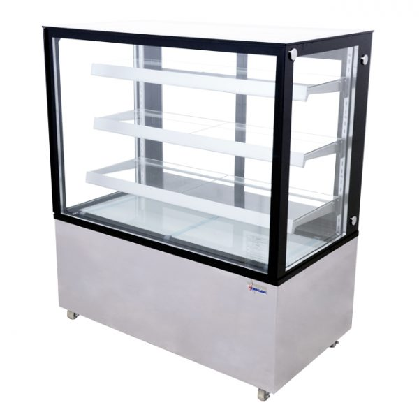 44383_48-inch Square Glass Floor Refrigerated Display Case