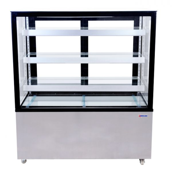 44383_48-inch Square Glass Floor Refrigerated Display Case - Front