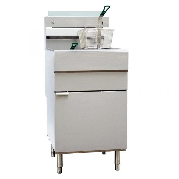 Natural Gas Floor Fryer with 150,000 BTU