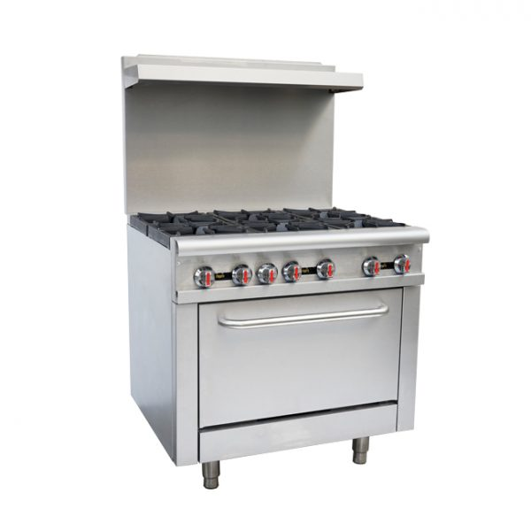 36-inch Commercial Gas Range - Liquid Propane