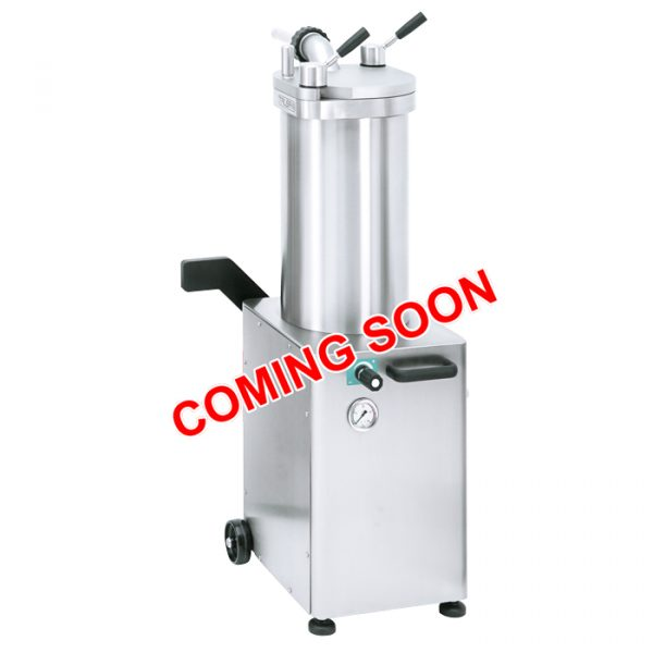 Stainless Steel Hydraulic Piston Sausage Stuffer - 48 lb capacity (220V/60Hz/1Ph)