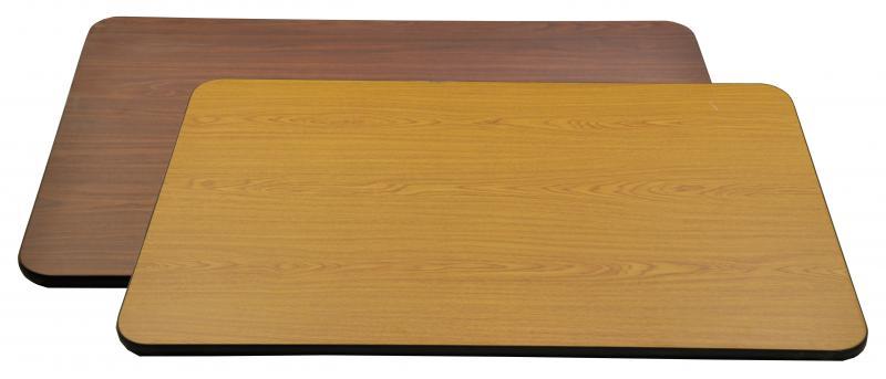 30u2033 X 60u2033 X 1u2033 Oak/Walnut Rectangular Table Top