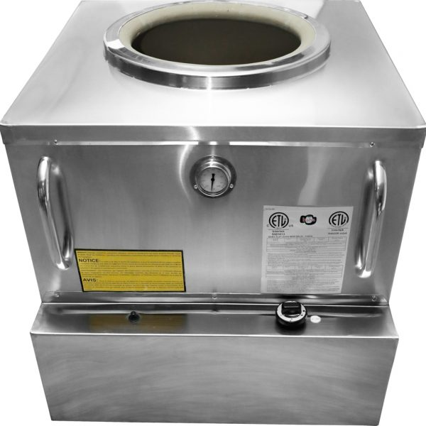 """32"""" x 32"""" Stainless Steel Tandoor Clay Oven - Natural Gas"""