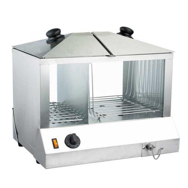1300 Watts Hotdog Steamer and Bun Warmer - 100 hotdogs and 48 buns capacity