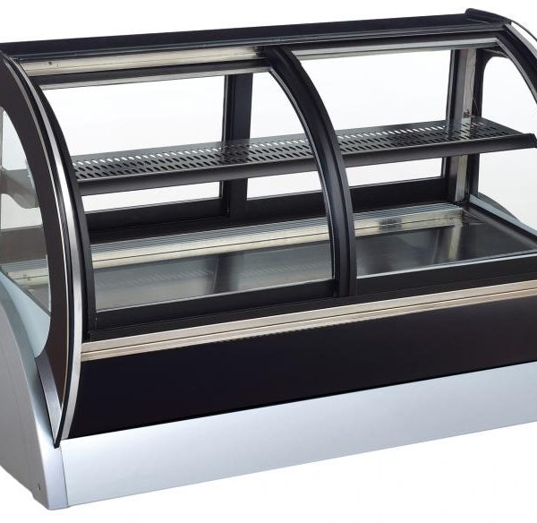 140 L Countertop Curved Glass Refrigerated Display with Dual Access
