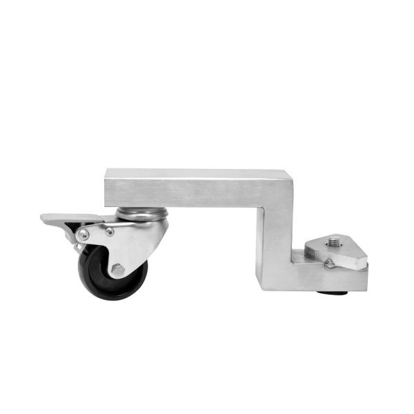 Optional Black Stainless Steel Swivel Caster with Brake for 95 lb. capacity Stainless Steel Sausage Stuffer
