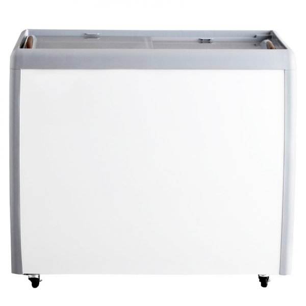 39-inch Ice Cream Display Chest Freezer with Flat Glass Top