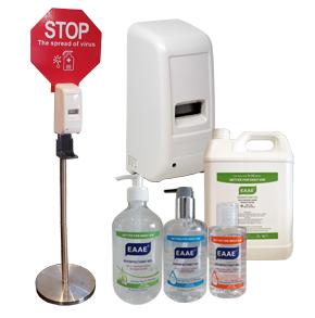 HAND SANITIZER AND DISPENSERS