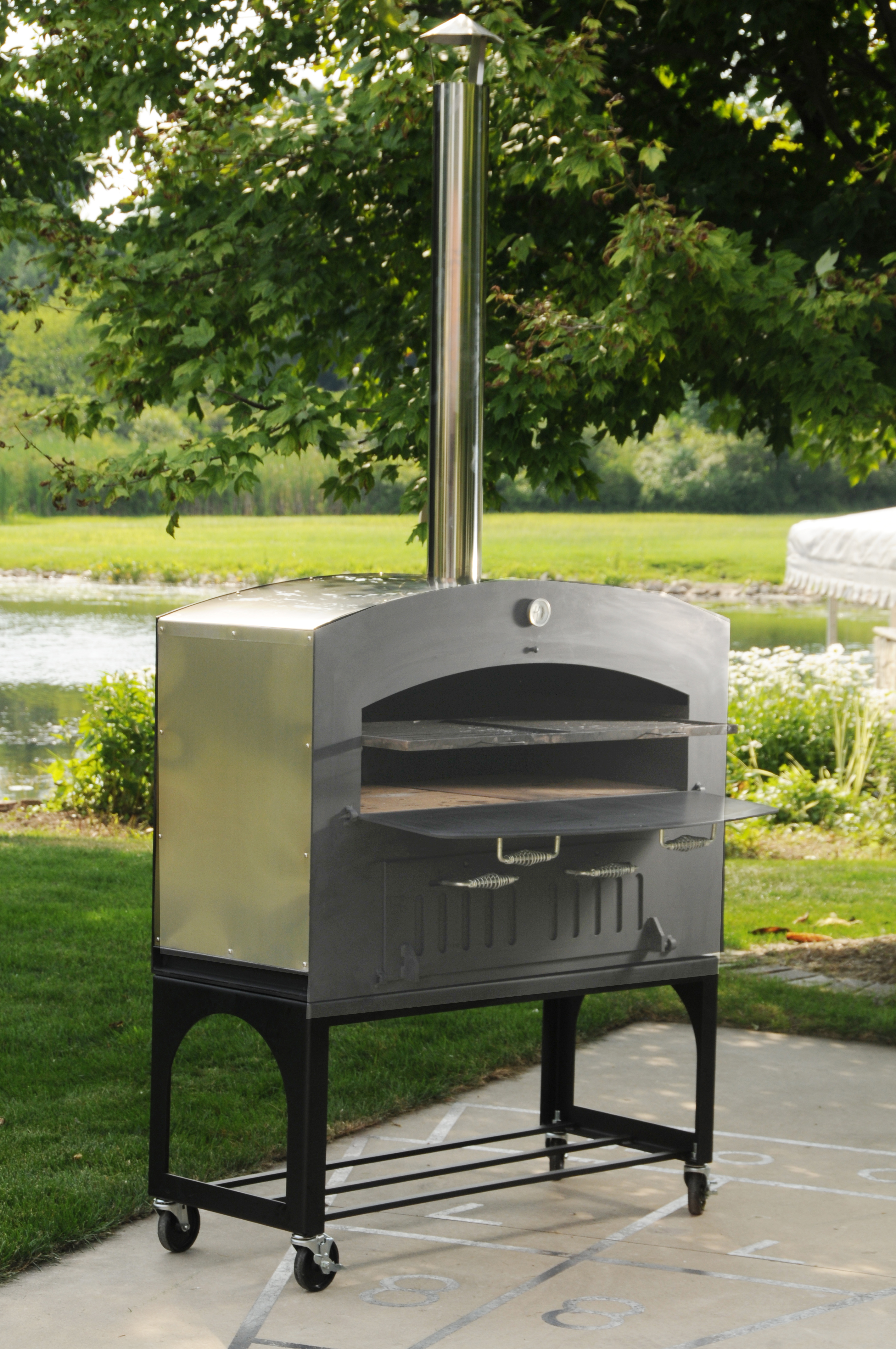 46 Inch Outdoor Wood Burning Oven With Stainless Steel