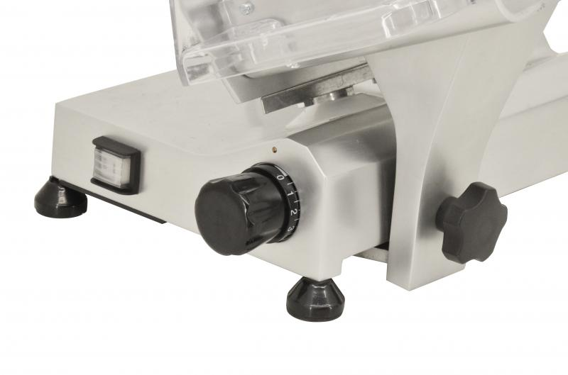 8-inch Belt-Driven Slicer with Removable Blade Sharpener