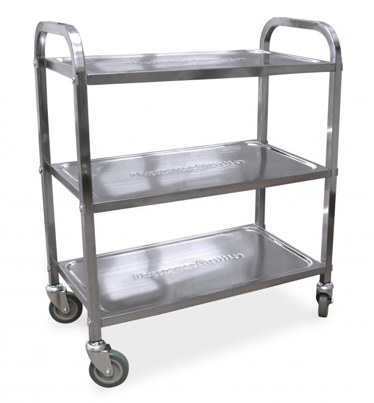 Stainless Steel Bussing Cart With 27 25 Quot X 15 75 Quot Tray