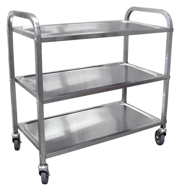 Stainless Steel Bussing Cart With 31 5 Quot X 17 6 Quot Tray Size