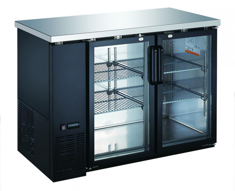 49-inch solid 2-Door Refrigerated Back Bar Cooler with 11.8 cu. ft capacity