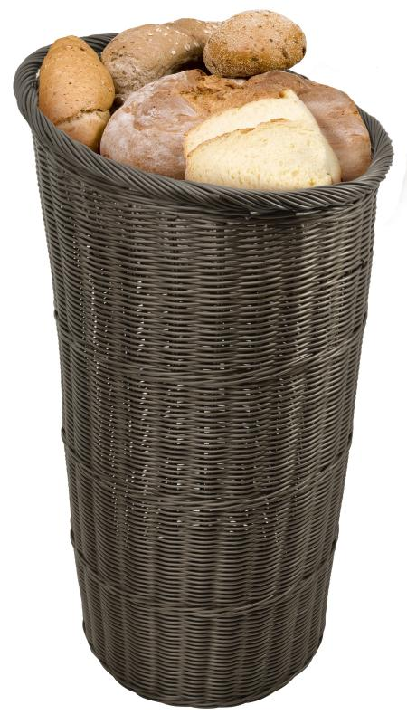 Round Brown Tapered Basket with Round Tray