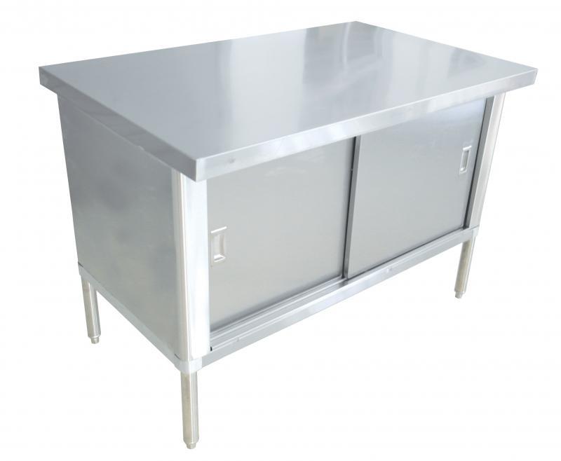 X Stainless Steel Knockdown Worktable Flush Edge Omcan - Stainless steel work table 30 x 48