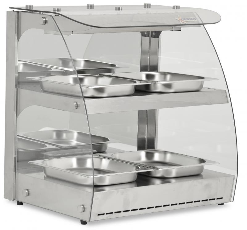 100 L Double-Shelf Full Service Heated Display Case