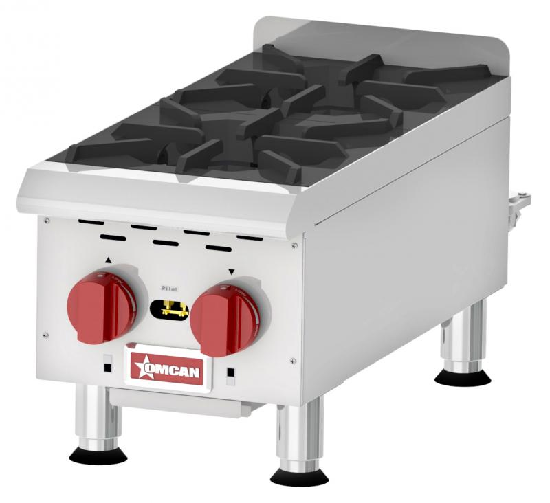 Countertop Stainless Steel Gas Hot Plate with 2 Burners