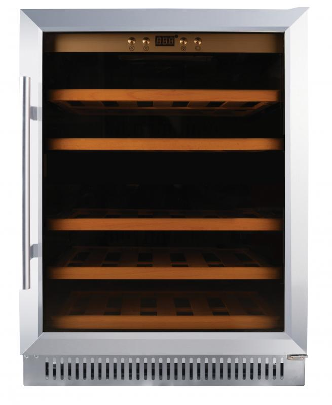 Dual Zone Wine Cooler with 51 Bottle Capacity and Stainless Steel Door
