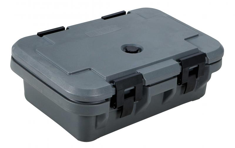 Gray Insulated Food Pan Carrier with 4� Depth