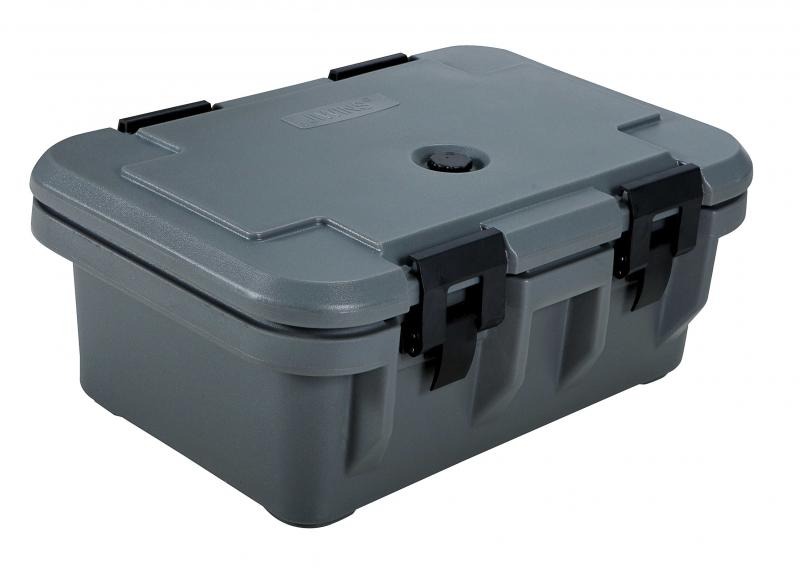 Gray Insulated Food Pan Carrier with 6� Depth
