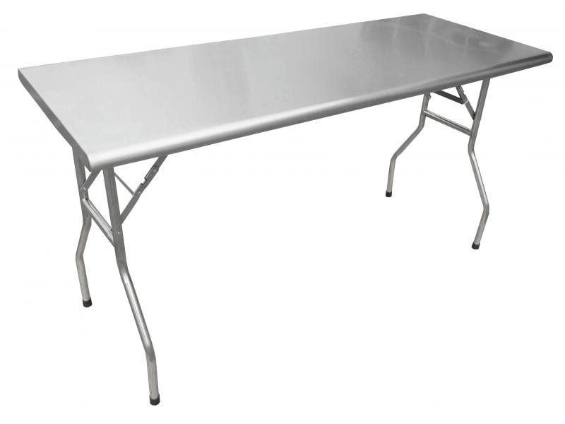 30 X 72 Stainless Steel Folding Table Omcan